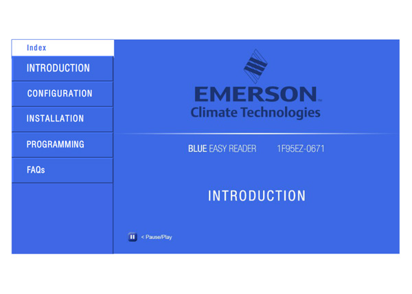 Emmerson Training Course Opening Screen