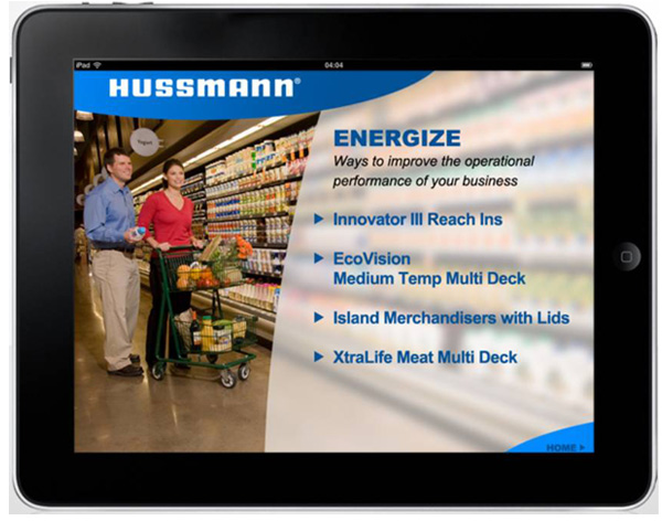 Hussman Tablet App Product Info