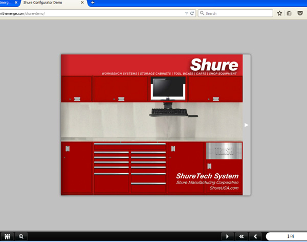 Shure Manufacturing online catalog cover