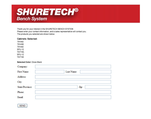 Shure Manufacturing contact us page